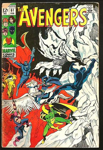 AVENGERS #61 Marvel Comics BLACK PANTHER 1st Print & Series 1969 Thomas BUSCEMA