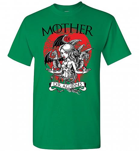 Mother of Dragons Unisex T-Shirt Pop Culture Graphic Tee (M/Turf Green) Humor Funny N