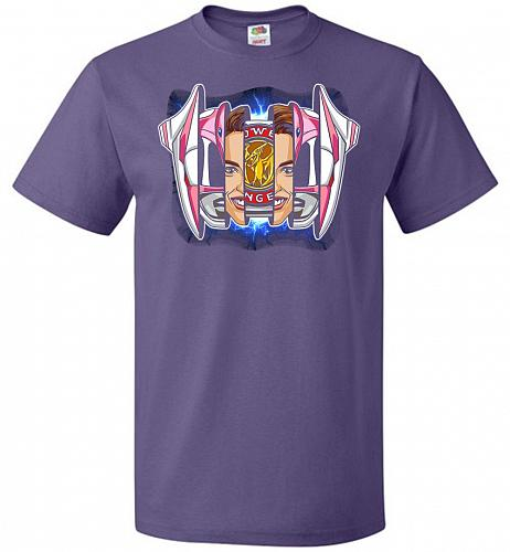 Pink Ranger Unisex T-Shirt Pop Culture Graphic Tee (3XL/Purple) Humor Funny Nerdy Gee