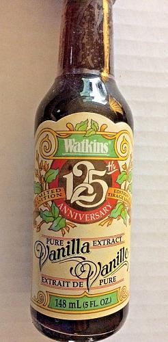 Watkins Products 125th Anniversary Pure Vanilla Extract 5 oz Ltd. Edition Bottle