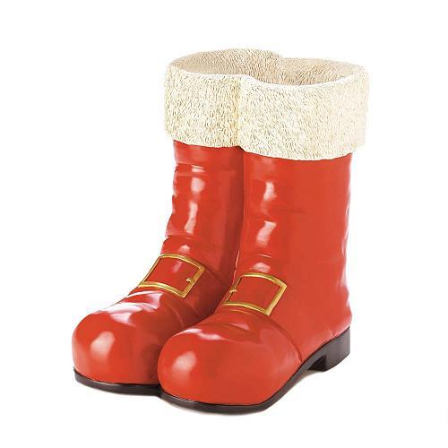 *17833U - Santa Red Boots Christmas Decorative Pot Vase