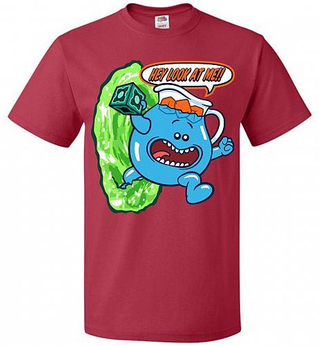 Meseeks Man Unisex T-Shirt Pop Culture Graphic Tee (L/True Red) Humor Funny Nerdy Gee