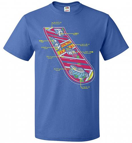 Anatomy Of A Hover Board Unisex T-Shirt Pop Culture Graphic Tee (6XL/Royal) Humor Fun