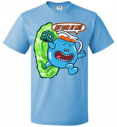 Meseeks Man Unisex T-Shirt Pop Culture Graphic Tee (6XL/Aquatic Blue) Humor Funny Ner