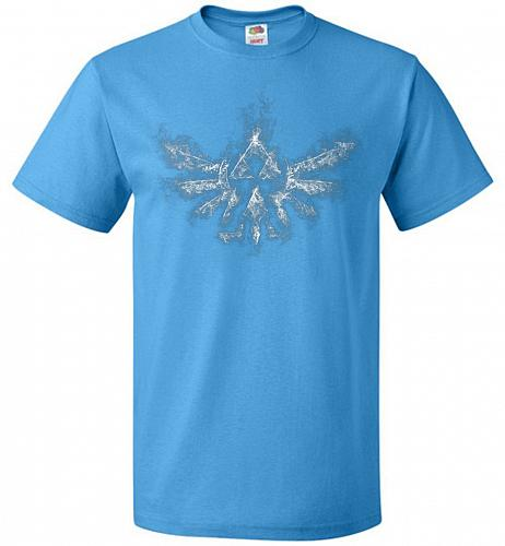 Triforce Smoke Unisex T-Shirt Pop Culture Graphic Tee (L/Pacific Blue) Humor Funny Ne