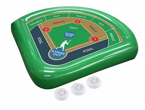 :10681U - Homerun Baseball Toss Green Inflatable Pool Float