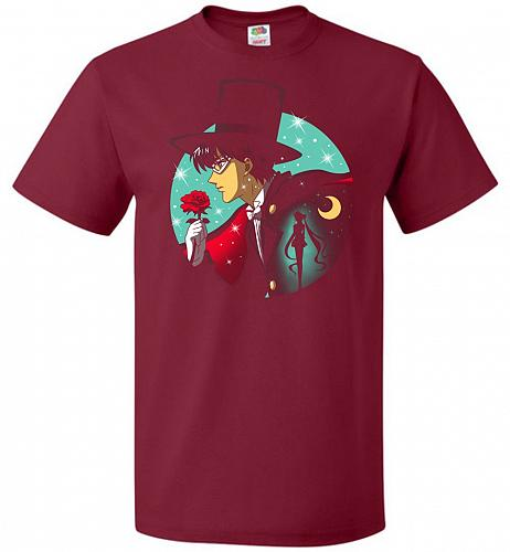 Knight Of The Moonlight Unisex T-Shirt Pop Culture Graphic Tee (XL/Cardinal) Humor Fu