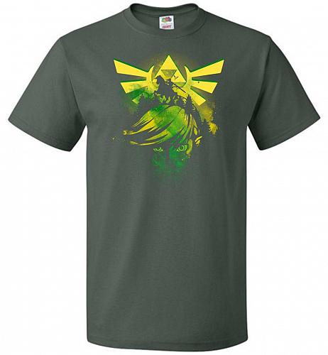 Hero of Time Unisex T-Shirt Pop Culture Graphic Tee (S/Forest Green) Humor Funny Nerd