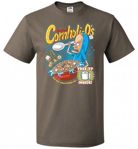 Cornholios Unisex T-Shirt Pop Culture Graphic Tee (S/Safari) Humor Funny Nerdy Geeky