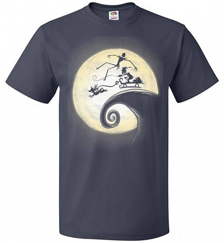 Nightmare Before Grinchmas Unisex T-Shirt Pop Culture Graphic Tee (4XL/J Navy) Humor