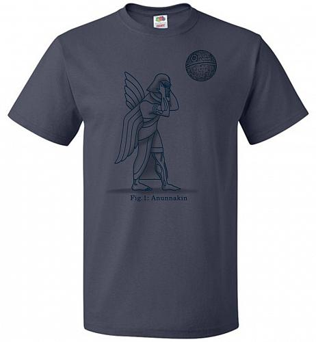Anunnakin Unisex T-Shirt Pop Culture Graphic Tee (M/J Navy) Humor Funny Nerdy Geeky S