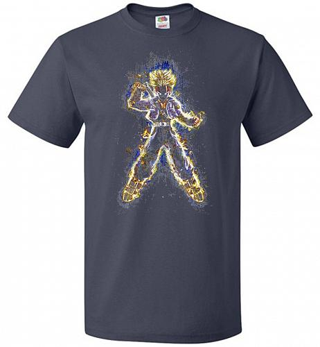 Mysterious Youth Trunks Unisex T-Shirt Pop Culture Graphic Tee (M/J Navy) Humor Funny