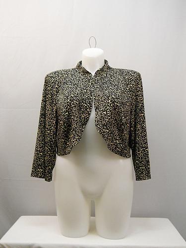 Womens Shrug Bolero Plus Size 18W Jessica Howard 3/4 Sleeves Band Collar Crop