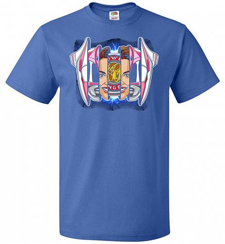 Pink Ranger Unisex T-Shirt Pop Culture Graphic Tee (L/Royal) Humor Funny Nerdy Geeky