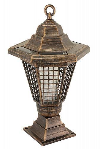 :10834U - 2 In 1 Solar Bug Zapper Path Light Garden Stake Lantern