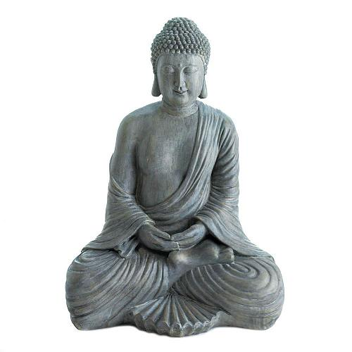 "*18340U - Meditation 16"" Buddha Statue Far East Figure"