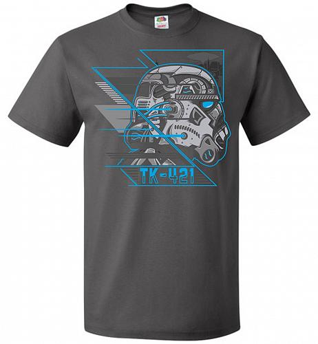 TK 421 Unisex T-Shirt Pop Culture Graphic Tee (XL/Charcoal Grey) Humor Funny Nerdy Ge