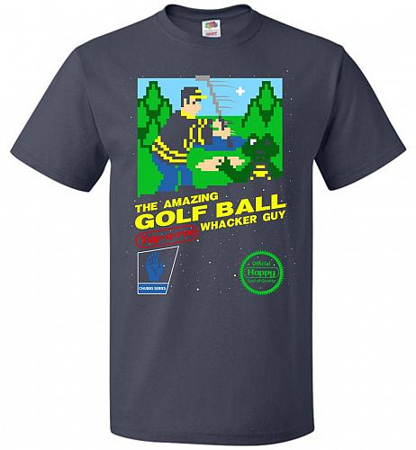 Happy Golf Nintendo Parody Cover Adult Unisex T-Shirt Pop Culture Graphic Tee (5XL/J