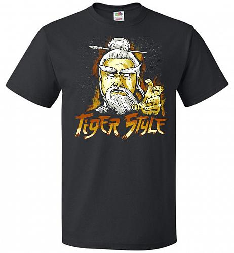 Tiger Style Unisex T-Shirt Pop Culture Graphic Tee (5XL/Black) Humor Funny Nerdy Geek