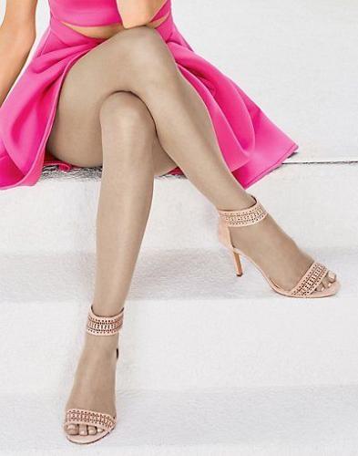 3 Pair Hanes Silk Reflections Ultra Sheer Toeless Control Top Pantyhose #0B376