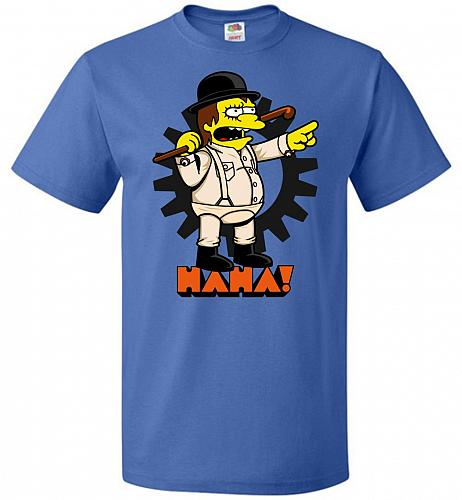 A Clockwork Bully Unisex T-Shirt Pop Culture Graphic Tee (M/Royal) Humor Funny Nerdy