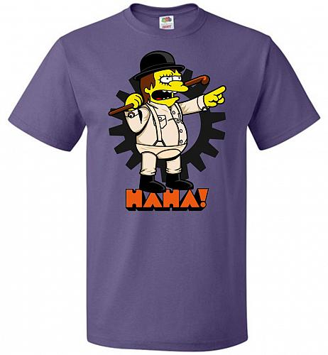 A Clockwork Bully Unisex T-Shirt Pop Culture Graphic Tee (4XL/Purple) Humor Funny Ner
