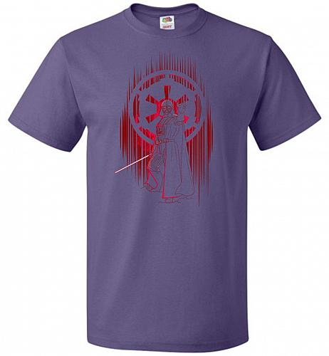 Shadow Of The Empire Unisex T-Shirt Pop Culture Graphic Tee (5XL/Purple) Humor Funny