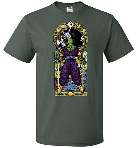Namekian Warrior Unisex T-Shirt Pop Culture Graphic Tee (S/Forest Green) Humor Funny