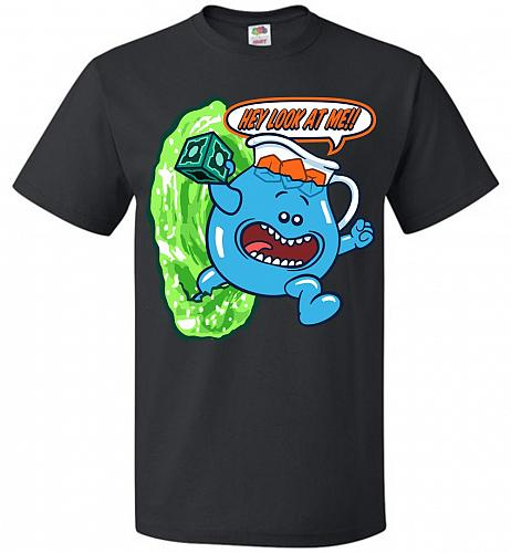 Meseeks Man Unisex T-Shirt Pop Culture Graphic Tee (XL/Black) Humor Funny Nerdy Geeky