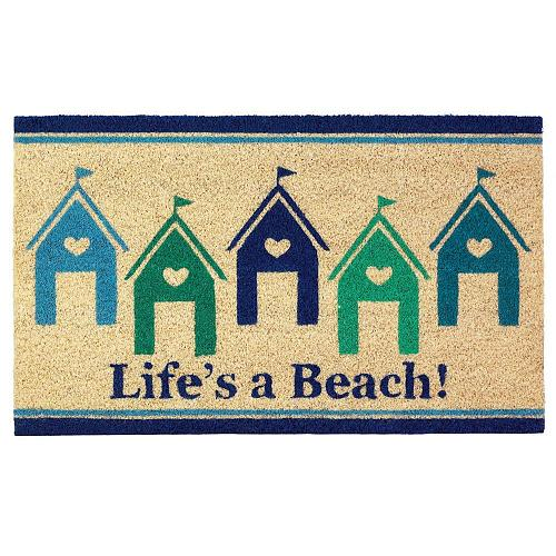 *18120U - Life Is A Beach Entryway House Coir Doormat