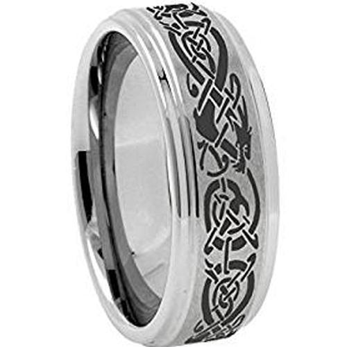 coi Jewelry Tungsten Carbide Dragon Wedding Band Ring