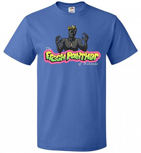 Fresh Panther Unisex T-Shirt Pop Culture Graphic Tee (5XL/Royal) Humor Funny Nerdy Ge