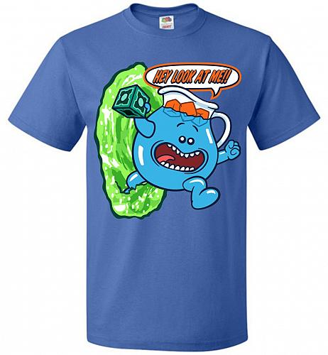 Meseeks Man Unisex T-Shirt Pop Culture Graphic Tee (L/Royal) Humor Funny Nerdy Geeky
