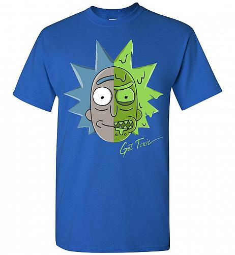 Get Toxic Rick and Morty Unisex T-Shirt Pop Culture Graphic Tee (M/Royal) Humor Funny
