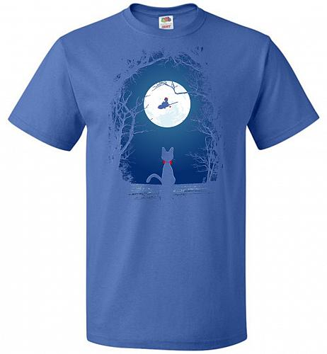 Fly With Your Spirit Unisex T-Shirt Pop Culture Graphic Tee (M/Royal) Humor Funny Ner