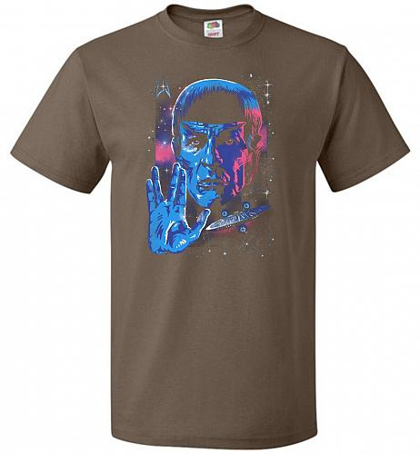 Live Long And Prosper Unisex T-Shirt Pop Culture Graphic Tee (3XL/Chocolate) Humor Fu