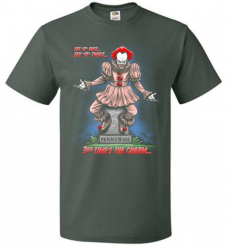 Pennywise The Dancing Clown Adult Unisex T-Shirt Pop Culture Graphic Tee (S/Forest Gr