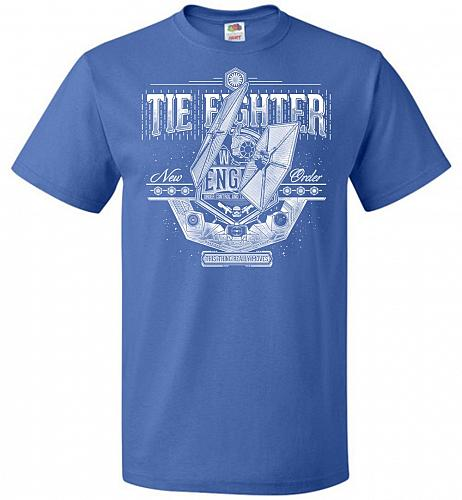 New Order Tie Fighter Unisex T-Shirt Pop Culture Graphic Tee (M/Royal) Humor Funny Ne