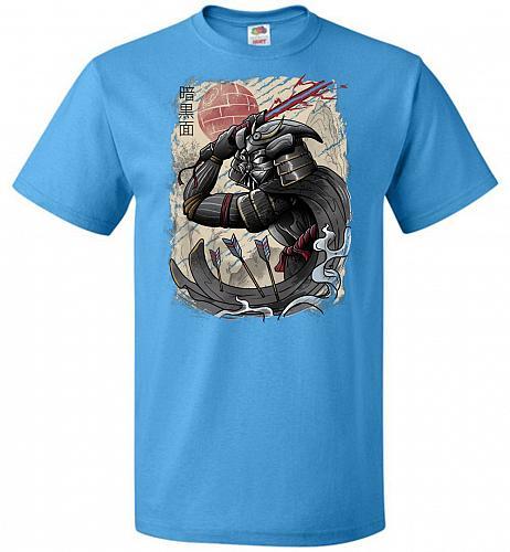 Dark Samurai Unisex T-Shirt Pop Culture Graphic Tee (XL/Pacific Blue) Humor Funny Ner