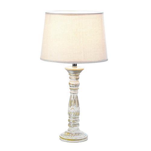 *18336U - Antique Finished Ceramic Stick Table Lamp