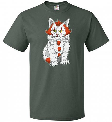 kITten Unisex T-Shirt Pop Culture Graphic Tee (S/Forest Green) Humor Funny Nerdy Geek