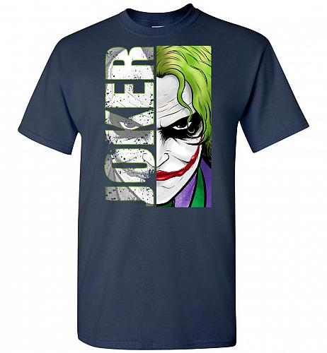 Joker Unisex T-Shirt Pop Culture Graphic Tee (5XL/Navy) Humor Funny Nerdy Geeky Shirt