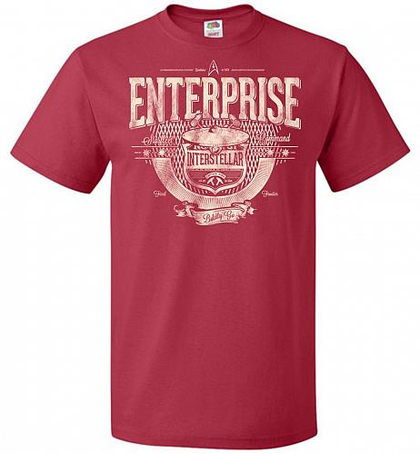 Enterprise Unisex T-Shirt Pop Culture Graphic Tee (2XL/True Red) Humor Funny Nerdy Ge