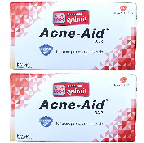 Stiefel Acne Aid Soap Bar for Acne and Oily Skin 100 grams Pack of 2
