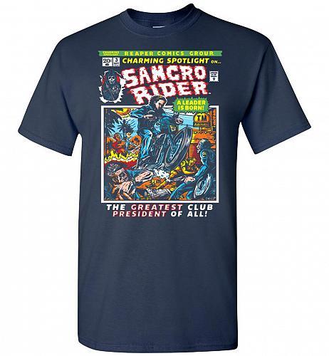 Born Leader Samcro Rider Unisex T-Shirt Pop Culture Graphic Tee (S/Navy) Humor Funny