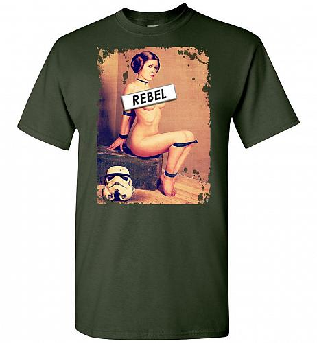 Princess Leia Rebel Unisex T-Shirt Pop Culture Graphic Tee (L/Forest Green) Humor Fun
