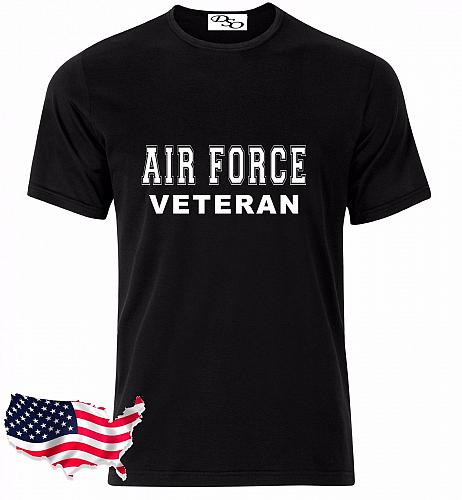 Air Force T Shirt VETERAN USAF USMC US Army Navy Marines Military GD