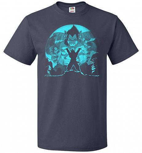 Saiyan Sized Secret Unisex T-Shirt Pop Culture Graphic Tee (6XL/J Navy) Humor Funny N