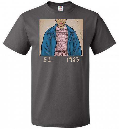 EL 1983 Unisex T-Shirt Pop Culture Graphic Tee (6XL/Charcoal Grey) Humor Funny Nerdy