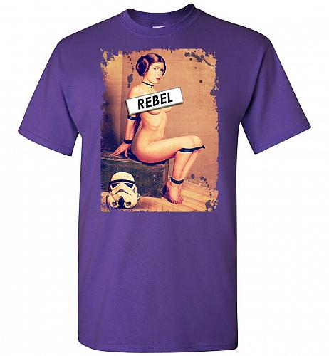 Princess Leia Rebel Unisex T-Shirt Pop Culture Graphic Tee (5XL/Purple) Humor Funny N